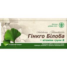 """ДД для кровоснабжения головного мозга """"Гинкго Билоба с витамином В"""" №80"""